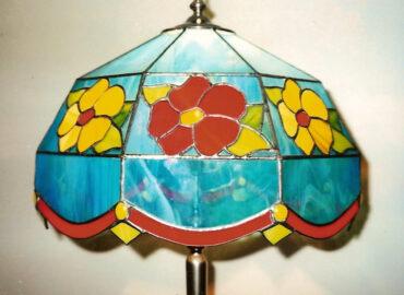 Lámpara Floral dome. Técnica Tiffany realizada por Natalia Benchoam