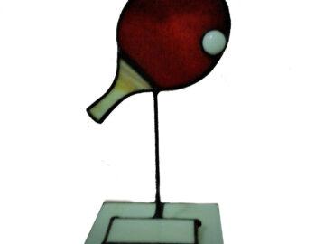 Trofeos de Torneo ping pong. Técnica mixta realizada por Natalia Benchoam
